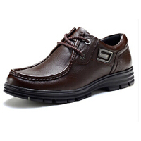 商务休闲男鞋 潮流时尚真牛皮鞋系带低帮鞋复古四季鞋