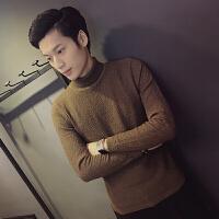 冬季加绒加厚男士毛衣圆领套头针织衫保暖韩版休闲毛线衣打底衫潮