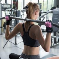 新款男女士半指健身手套 运动加长护腕哑铃器械训练护掌 【升级款】