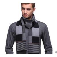 美观大方潮流舒适防寒男士羊毛围巾加厚保暖英伦商务围脖
