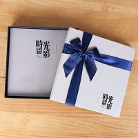 覆膜相册diy手工家庭宝宝成长纪念本创意礼物情侣浪漫影集粘贴式 抖音 +礼盒套装
