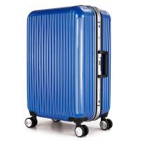 新品时尚纯PC材质万向轮拉杆箱旅行箱行李箱铝框登机箱