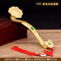 中式铜合金吉祥如意摆件大小号手把件客厅供奉抓周带底座*铜制品摆件