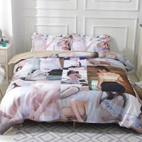 伊丝洁家纺性感印花四件套1.8m床上用品席梦思被套床单磨毛三件套1.5床笠式