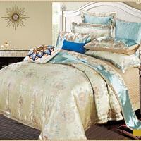 家纺欧式四件套样板房床上用品六八十件套贡缎多件套