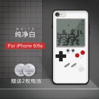 抖音同款苹果6s手机壳iphone7plus俄罗斯方块游戏机8p复古网红x套