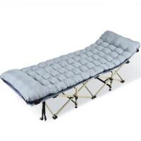 折叠床午休床办公室午睡床躺椅单人床简易便捷沙滩懒人行军床 配加厚珍珠棉垫