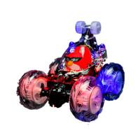 玩具男孩遥控汽车女孩翻斗特技车翻滚车儿童充电动跳舞车大号 大号愤怒的小鸟自动演示 音乐 充电版 2套充电电池