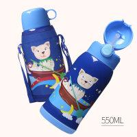 儿童保温水杯带吸管两用316不锈钢小学生幼儿园宝宝防摔水壶