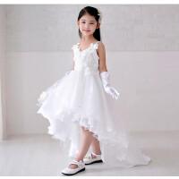 女童结婚礼服公主裙中大童表演服幼童演出服童装拖地裙子