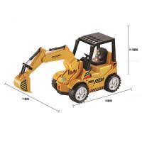 遥控灯光音乐充电挖掘机儿童遥控挖土工程 遥控轮式挖掘机