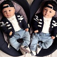 女婴儿童装毛衣服针织2外套装0岁3男1宝宝春秋冬装婴幼儿开衫秋装