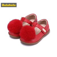 巴拉巴拉童鞋女童单鞋公主鞋新款秋季小童宝宝儿童皮鞋牛皮鞋