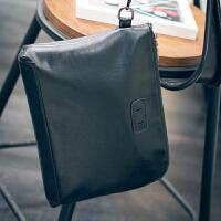 2018新款男士手拿包韩版潮男包包软皮大容量手抓包休闲商务信封包 黑色 简约黑