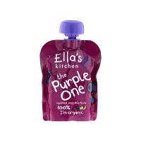 【网易考拉】Ella's Kitchen艾拉的厨房 有机紫色香蕉苹果黑加仑蓝莓混合果泥 90克