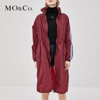 MOCO秋季新品连帽抽绳薄风衣外套MA183TRC102 摩安珂