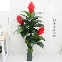 仿真植物盆栽摆件大型桃花树客厅摆设落地假花室内装饰樱花假桃树礼物SN1431