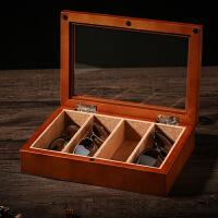 木制天窗太阳镜墨镜眼镜盒收纳盒蛤蟆镜近视镜项链收纳收藏盒子