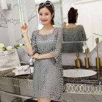 18春夏装新款版时尚修身显瘦蕾丝镂空勾花个性连衣裙百搭版
