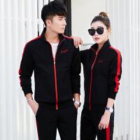 新款情侣装运动套装时尚男女三件套户外休闲运动服套装潮