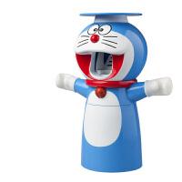 自动挤牙膏儿童牙刷架卡通牙膏挤压器吸壁挂式漱口杯洗漱套装 送1个备用贴+1个手动卡通牙膏挤
