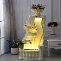 欧式大鱼池客厅喷泉流水水景家居装饰品摆设风水轮水幕墙摆件工艺礼品