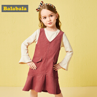巴拉巴拉儿童女童连衣裙宝宝洋气裙子秋装2018新款小童两件套韩版