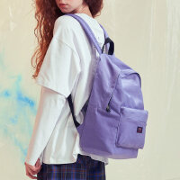POY潮牌 书包女原创小众14寸电脑背包大学生紫色百搭大容量双肩包