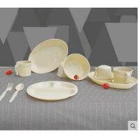 高雅简洁精致塑料碗筷盘刀叉野餐便携野炊炊具野餐用具抗菌餐具套装家用户外