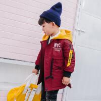 男童秋冬3童夹棉棉袄5岁小童冬装4儿童长款外套6宝宝棉衣男