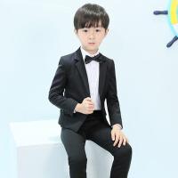 外套小孩西装男童礼服春款 儿童西装套装三件套韩版花童礼服中大童