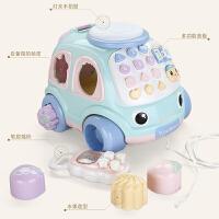 拖拉玩具拉线绳手拉车宝宝牵引1-2-3岁音乐拖行儿童拉拉车 拖拉电话车(送5号充电电池组+螺丝刀)