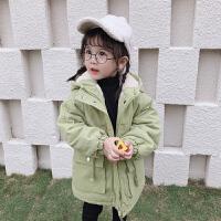 女宝宝加绒外套女羽绒冬季棉袄小童冬装棉衣