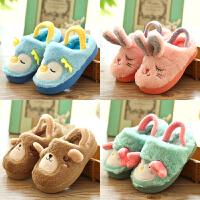 男宝棉鞋女宝棉拖鞋冬季1-3-16儿童拖鞋包跟女童可爱棉拖鞋公主潮