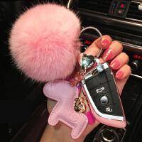 车钥匙包女钥匙包适用旅行车汽车钥匙零钱夜光男女保护套汽车时尚黑色欣英多多装饰