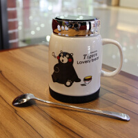 20180702030044676创意陶瓷卡通马克杯咖啡杯带盖勺男女生儿童喝水杯个性可爱熊本杯