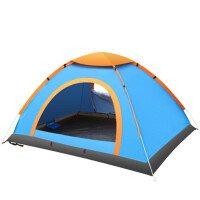 户外帐篷双人双层双开门自动帐篷双人野营露营防雨冬季抛帐