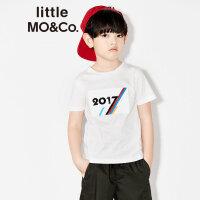 littlemoco男女童圆领数字胶印短袖纯棉T恤KA172TEE212