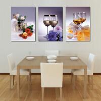 客厅装饰画沙发背景墙无框画 餐厅卧室床头壁画三联挂画欧式抽象 19