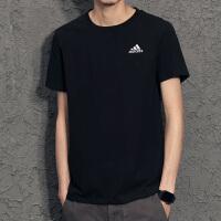 adidas阿迪达斯男短袖简约潮流舒适透气运动圆领休闲T恤B47356