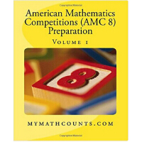 【预订】英文原版 美国数学竞赛AMC8 卷1American Mathematics Competitions (AM