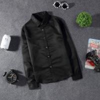 韩观青少年百搭衬衫男长袖韩版修身个性春季帅气休闲衬衣学生潮流薄款
