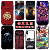 钢铁侠苹果xs/xr手机壳oppo漫威6s复仇者联盟4反应堆8plus蜘蛛侠7