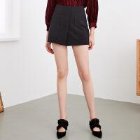 红袖拼贴口袋A字短裤气质显腿瘦打底裤