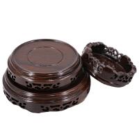 20180713015258434实木托架摆件石头奇石茶壶盆景花瓶花盆香炉佛像木质红木圆形底座