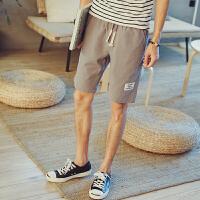 夏季马裤潮男大裤衩棉麻短裤宽松休闲夏天5五分裤男装中裤沙滩裤