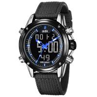 新款创意多功能户外运动手表中学生男生男孩男士双显示电子表SN8815