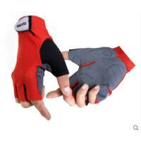 拼色手套精致登山骑行手套野营钓鱼手套男户外速干防滑半指手套