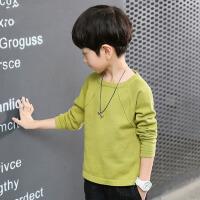 儿童针织衫打底衫中大童 童装2017秋装新款男童套头毛衣 绿 色