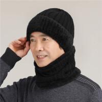 中老年人帽子男冬季加绒保暖毛线帽加厚老头帽爸爸爷爷老人帽针织